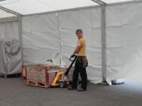 Aufbau des Festzeltes