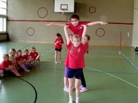 Training in der Turnhalle
